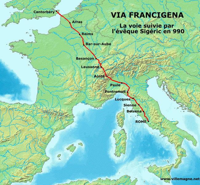 Via francigena - storia della via per roma
